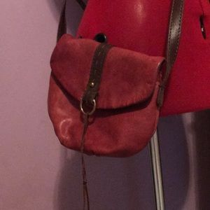 Small Lucky Brand Crossbody Leather Purse